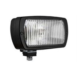Fog light standing 196x95+black metal housing